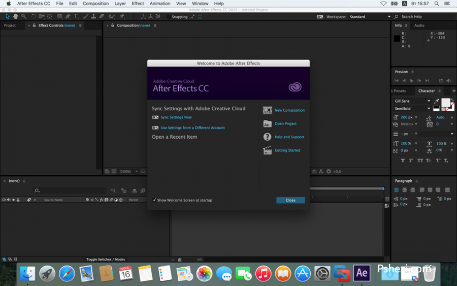 Adobe After Effects CC 2015 for mac 中文破解版 v13.5.1 Mac 视频特效制作软件