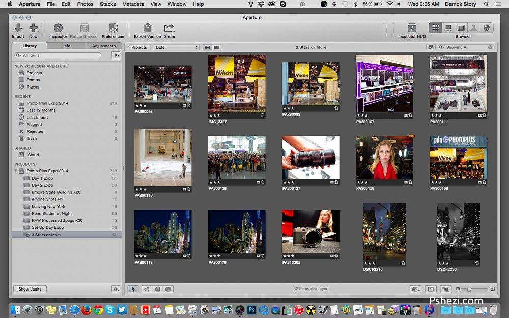 Apple Aperture for mac 中文破解版 v3.6 Apple 图片处理软件