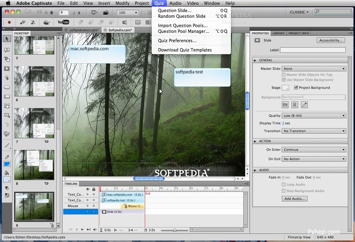 Adobe Captivate for mac 破解版 v9.0.0.223 Mac 屏幕录制软件