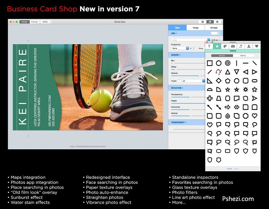 Business Card Shop 7.0.2 for Mac破解版 名片设计工具