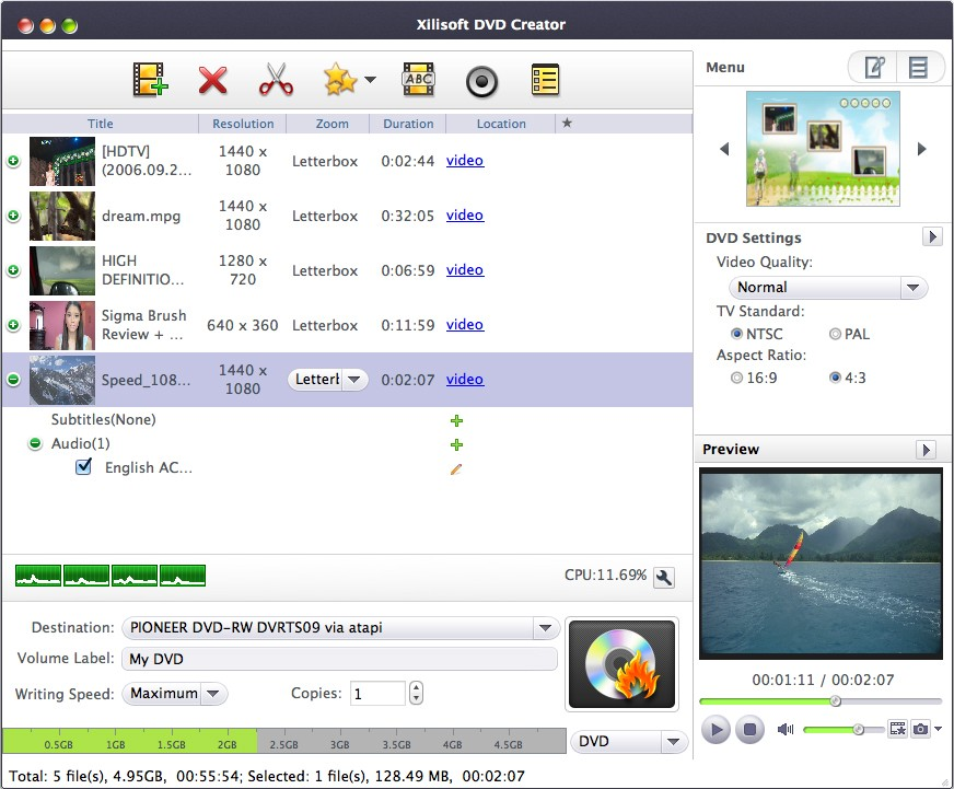 Xilisoft DVD Creator 7.1.4 for Mac破解版 DVD视频制作软件