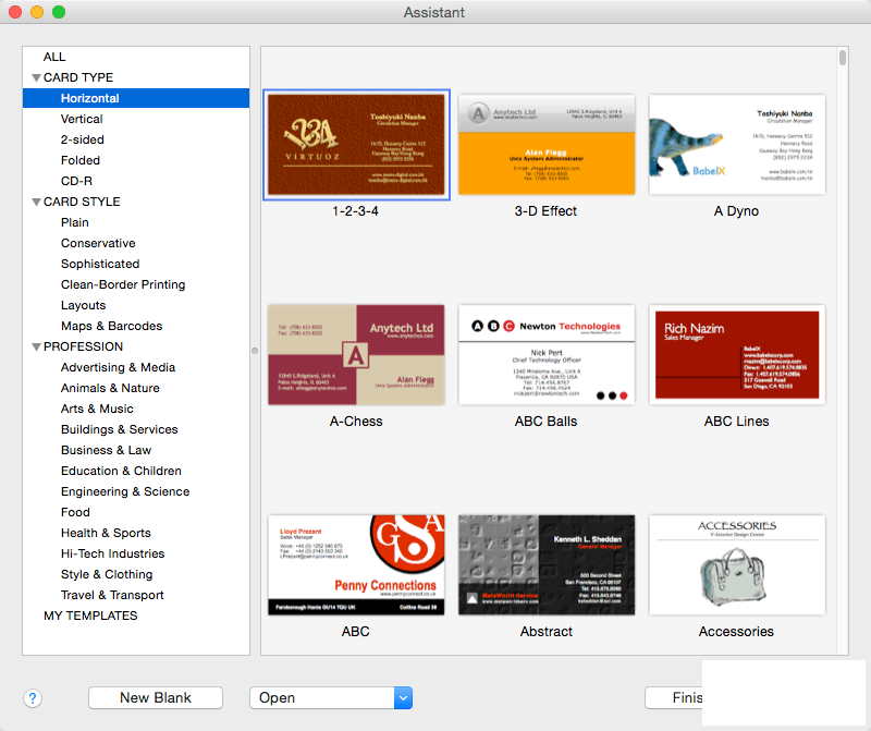 Business Card Composer 5.2.1 for Mac破解版 名片设计软件