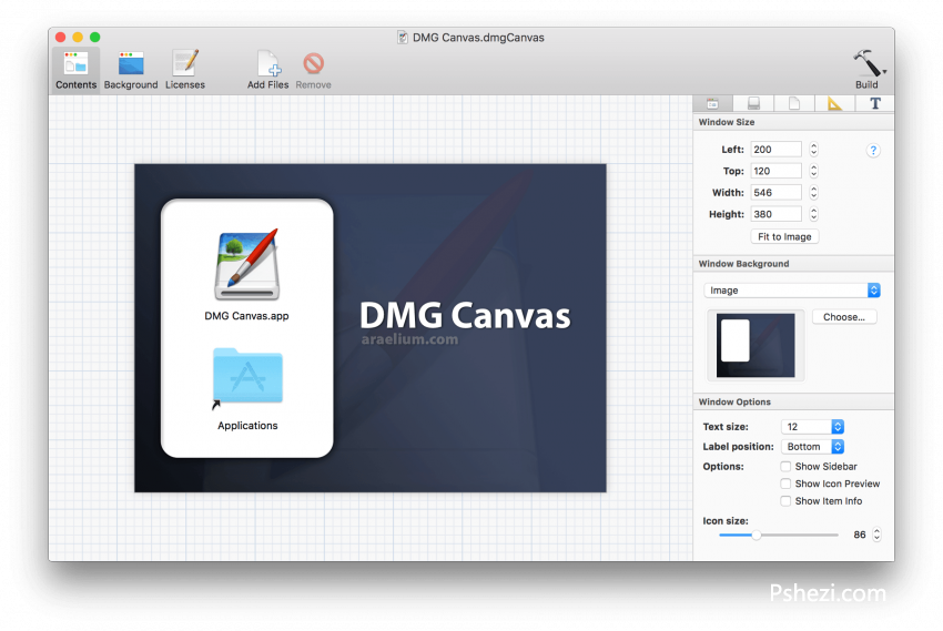 DMG Canvas 2.2 for Mac破解版 DMG镜像制作工具