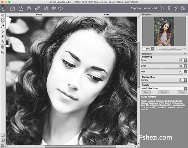 AKVIS MakeUp Mac破解版 AKVIS MakeUp 3.5 for Mac 人像化妆插件