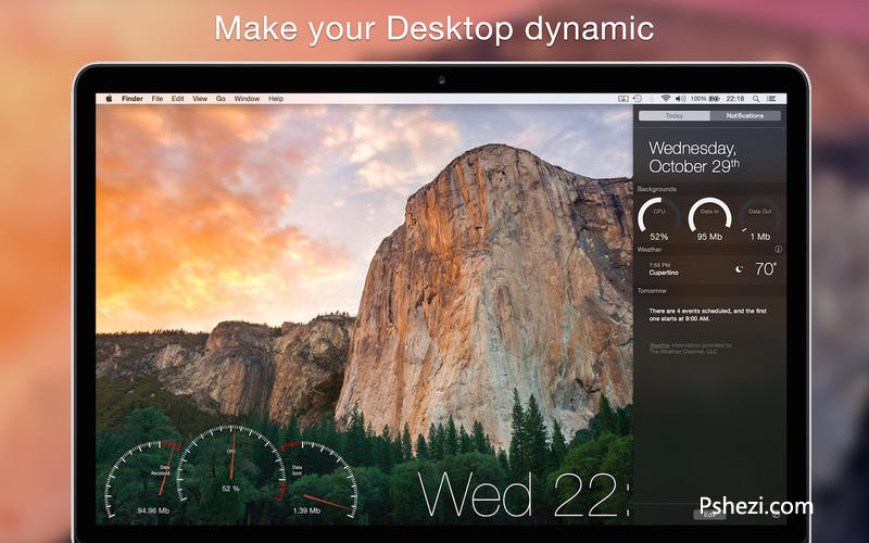 Backgrounds Mac破解版 Backgrounds 1.4.3 for Mac 桌面动态壁纸软件
