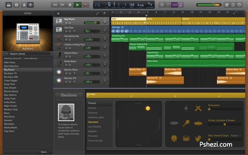 Apple GarageBand 10.1.1 for Mac中文破解版 Apple音乐创作软件
