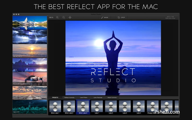 Reflect Studio Mac破解版 Reflect Studio 2.4 for Mac 图片水影效果软件