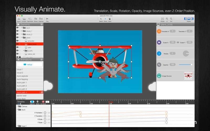 Core Animator Mac破解办 Core Animator 1.3.1 for Mac 动画绘图工具