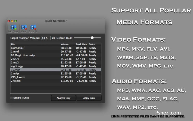 Sound Normalizer Mac破解版 Sound Normalizer 2.1 for Mac 音质优化软件