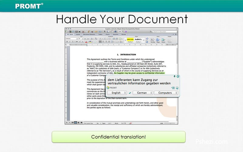 PROMT Offline Translator English Pack 1.0.16 for Mac破解版 苹果离线翻译软件