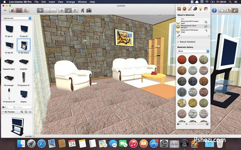 Live Interior 3D Pro Mac破解版 Live Interior 3D Pro 2.9.8 for Mac 室内设计软件