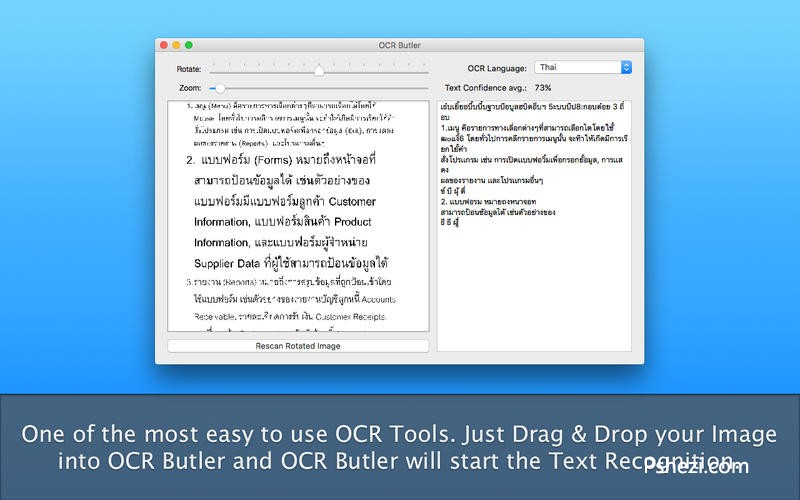 OCR Butler Mac破解版 OCR Butler 1.2.1 for Mac 图片OCR工具