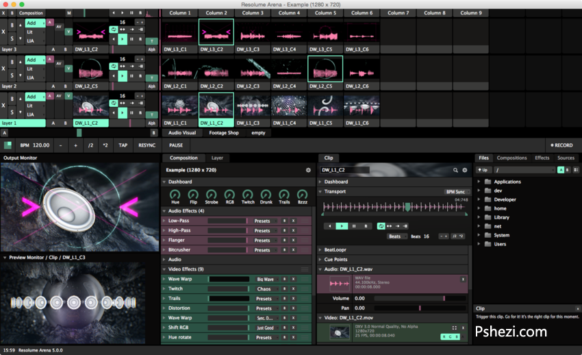 Resolume Arena Mac破解版 Resolume Arena 5.0.3 for Mac 专业VJ软件