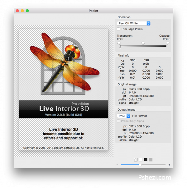 Peeler Mac破解版 Peeler 1.0.1 for Mac PNG透明图片制作工具