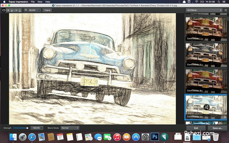 Topaz Impression Mac破解版 Topaz Impression 2.0.3 Mac PS手绘效果滤镜