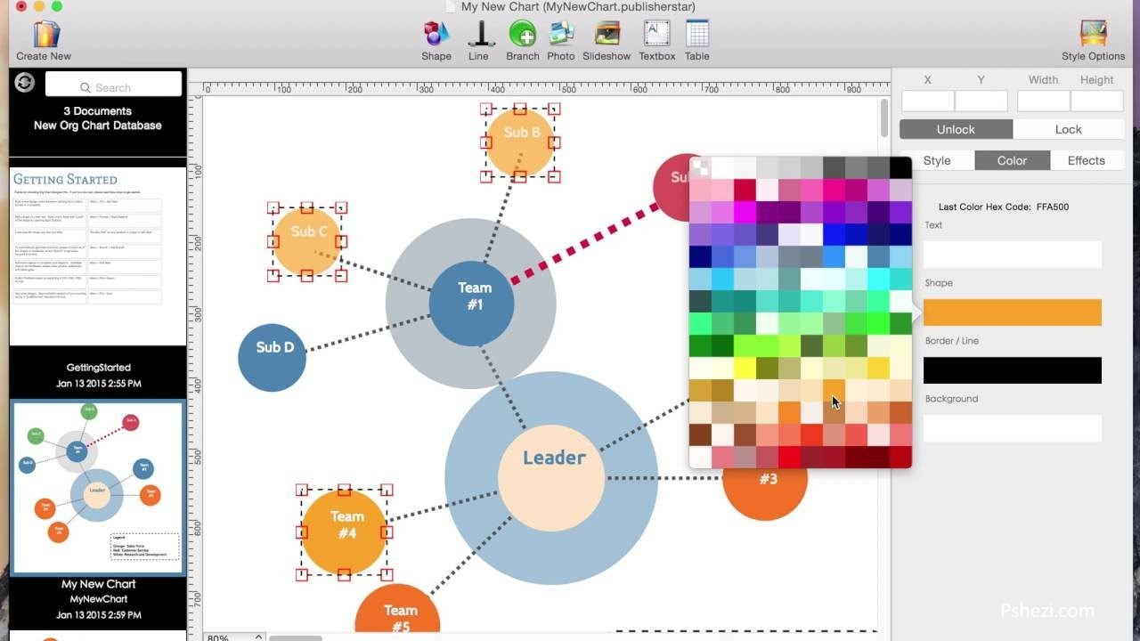 Org Chart Designer Pro 3.90.1 for Mac破解版 图表设计软件