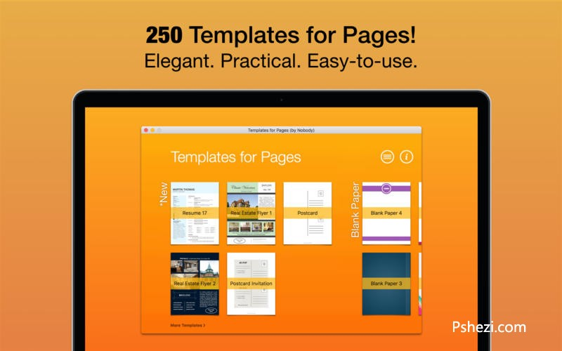 Templates for Pages 2.3 Mac破解版下载 Pages模版合集