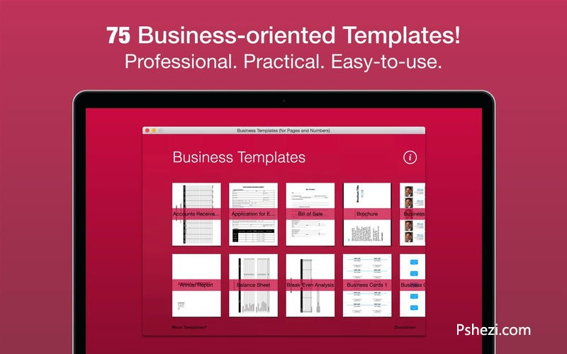 Business Templates for mac 2.0.1 破解版下载 Pages Numbers模版