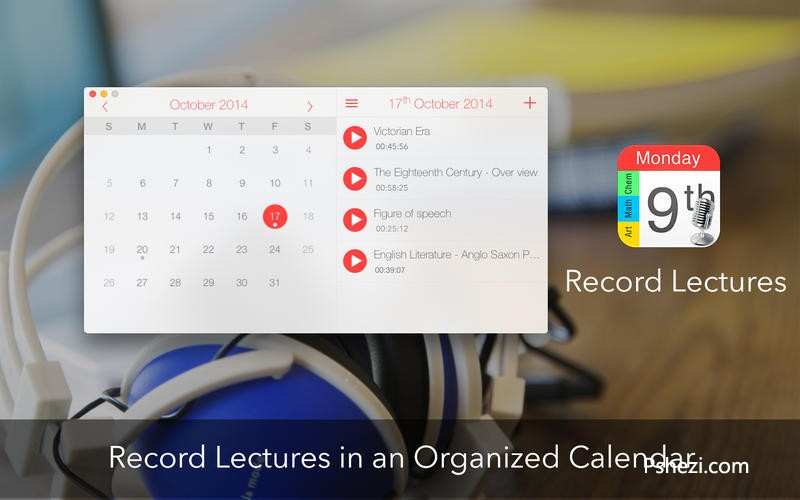 Record Lectures for Mac 3.0.1 破解版下载 日历浏览式录音软件