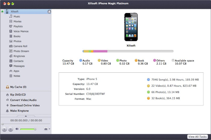 Xilisoft iPhone Magic Platinum 5.7.13 for Mac 破解版下载 iPhone管理工具