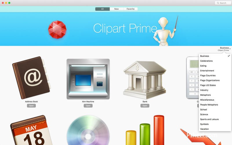 Clipart Prime for mac 2.1 破解版下载  高质量图片素材包