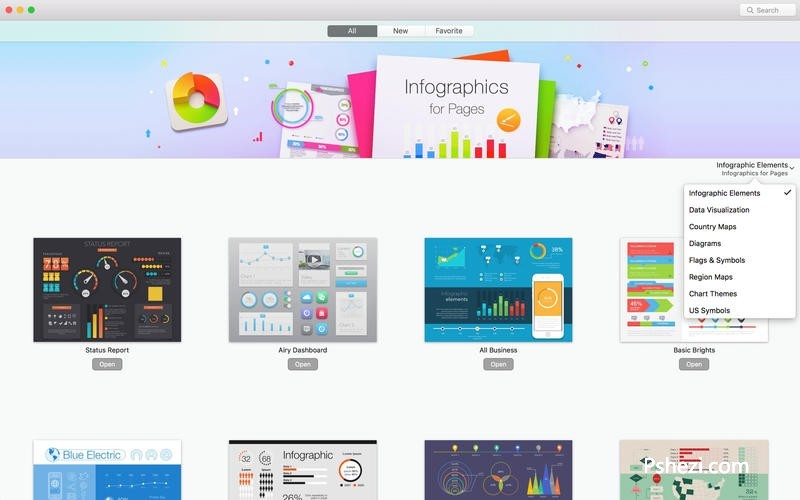 Infographics for Pages 3.0.3 for mac 破解版下载 可视化图标的工具
