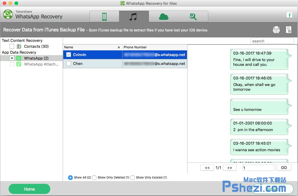Tenorshare WhatsApp Recovery for Mac v3.2.0.0 破解版下载 WhatsApp数据恢复软件