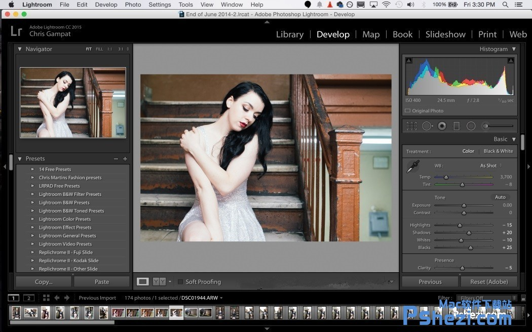 Adobe Photoshop Lightroom CC 2018 v7.2.0.10 for Mac破解版下载 图片管理软件