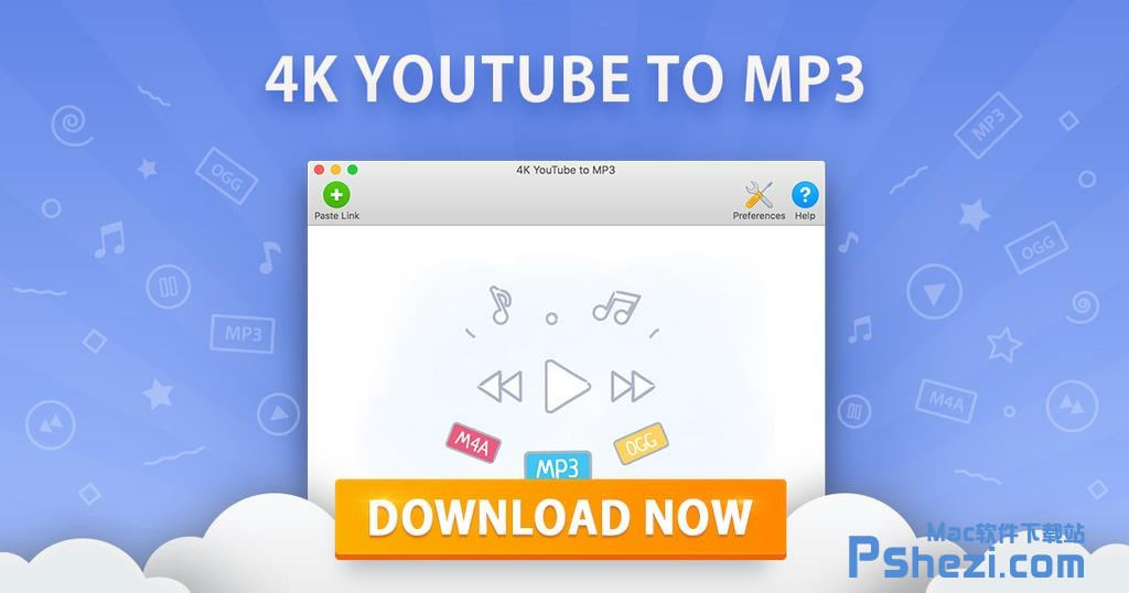 4K YouTube to MP3 for Mac v3.3.9 破解版下载 视频转mp3工具
